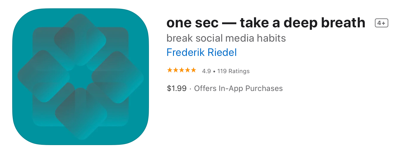 One Sec app image from the App Store
